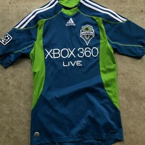 Seattle Sounders fc jersey blue green mls small